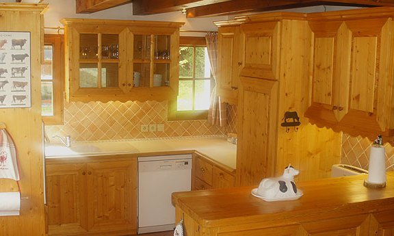 Chalet La Tarine Kitchen