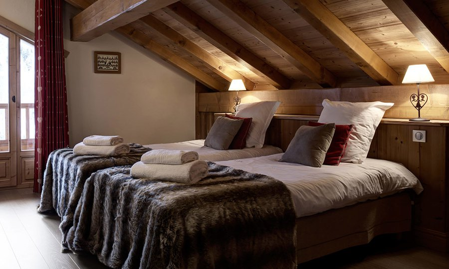 Chalet L'Arbalete Twin Room