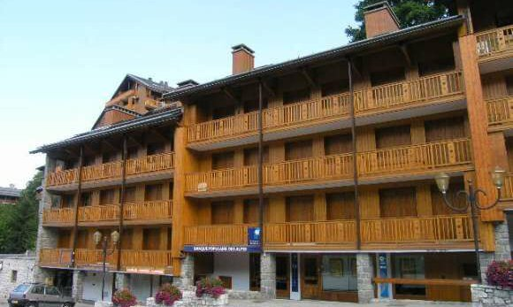 The residence exterior of apartment Le Coeur de Meribel in Meribel