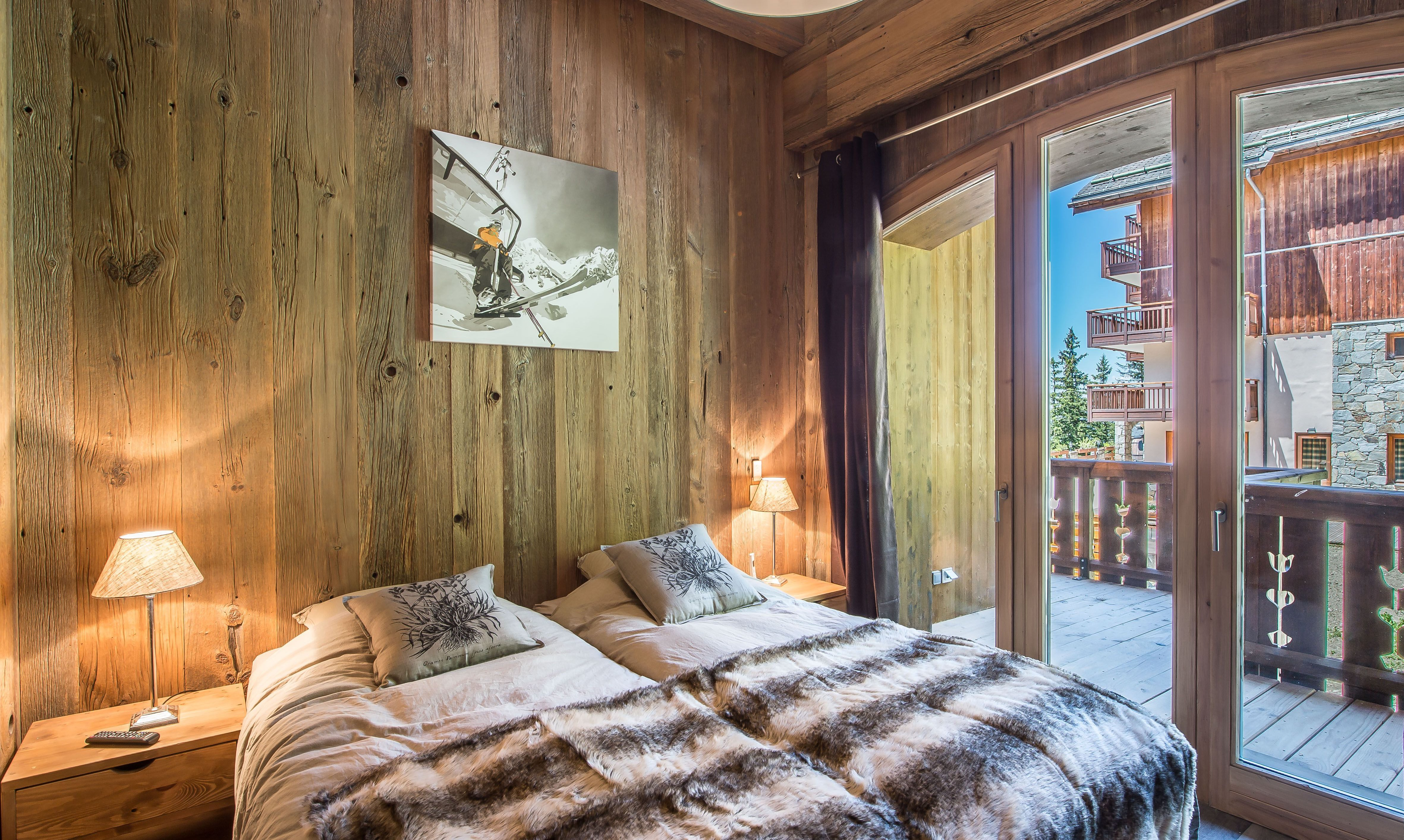 Comfortable twin bedroom in apartment Aspen Lodge 21