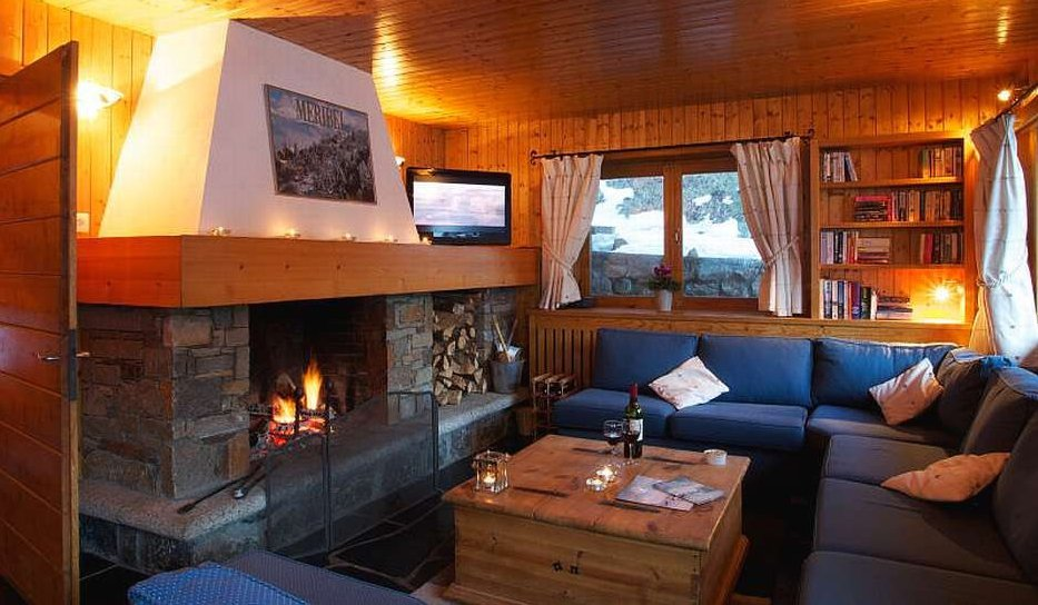 Chalet Sorbier Lounge with Fire