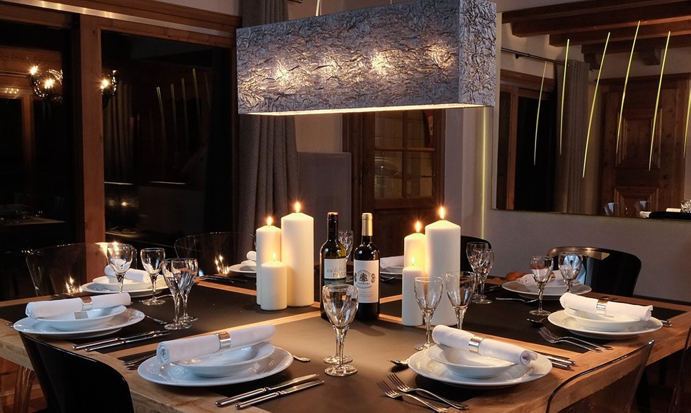 Luxury Dining in Chalet Mariefleur