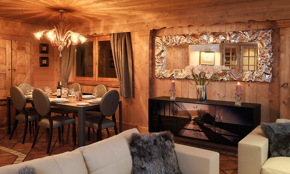 Lounge and Dining Room Chalet Marielaine