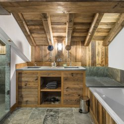 Deep chalet baths