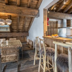 Luxurious interiors at Chalet Cerf Rouge