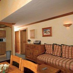 Sample apartment living area