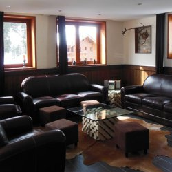 Comfy leather sofas