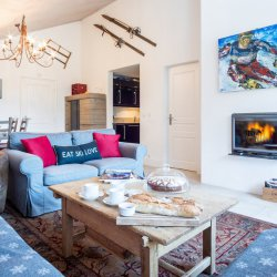 Chalet Dou du Pont Living Room
