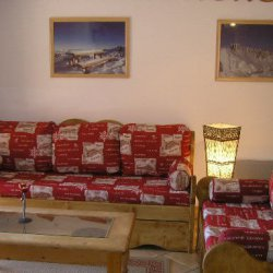 Living room Apartment Fermes de Meribel 413 Meribel Village