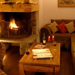Backgammon in front of a cosy log fire