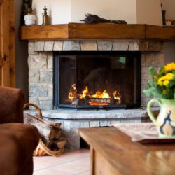 Chalet Serpolet Open Fire