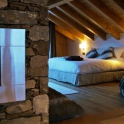 Chalet Kashmir Bedroom with Fire