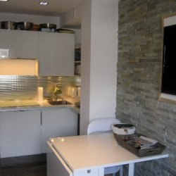 Kitchen area in apartment Arolaz 5 Meribel