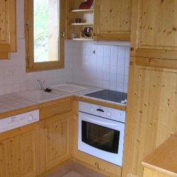 The kitchen area in Apartment Grand Duc Meribel