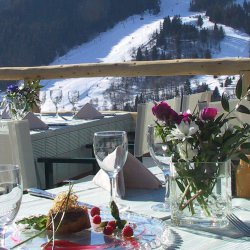 Lovely views from the terrace at Hotel Marie Blanche