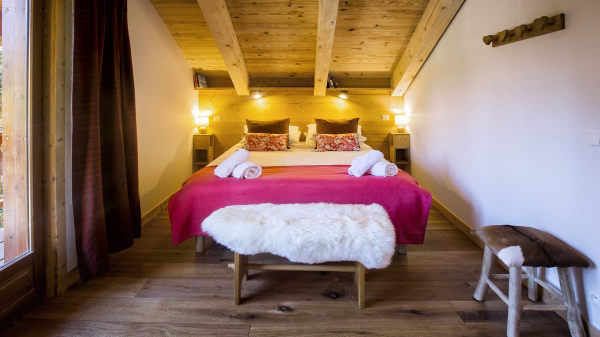 Chalet Nid Alpin Double Bedroom