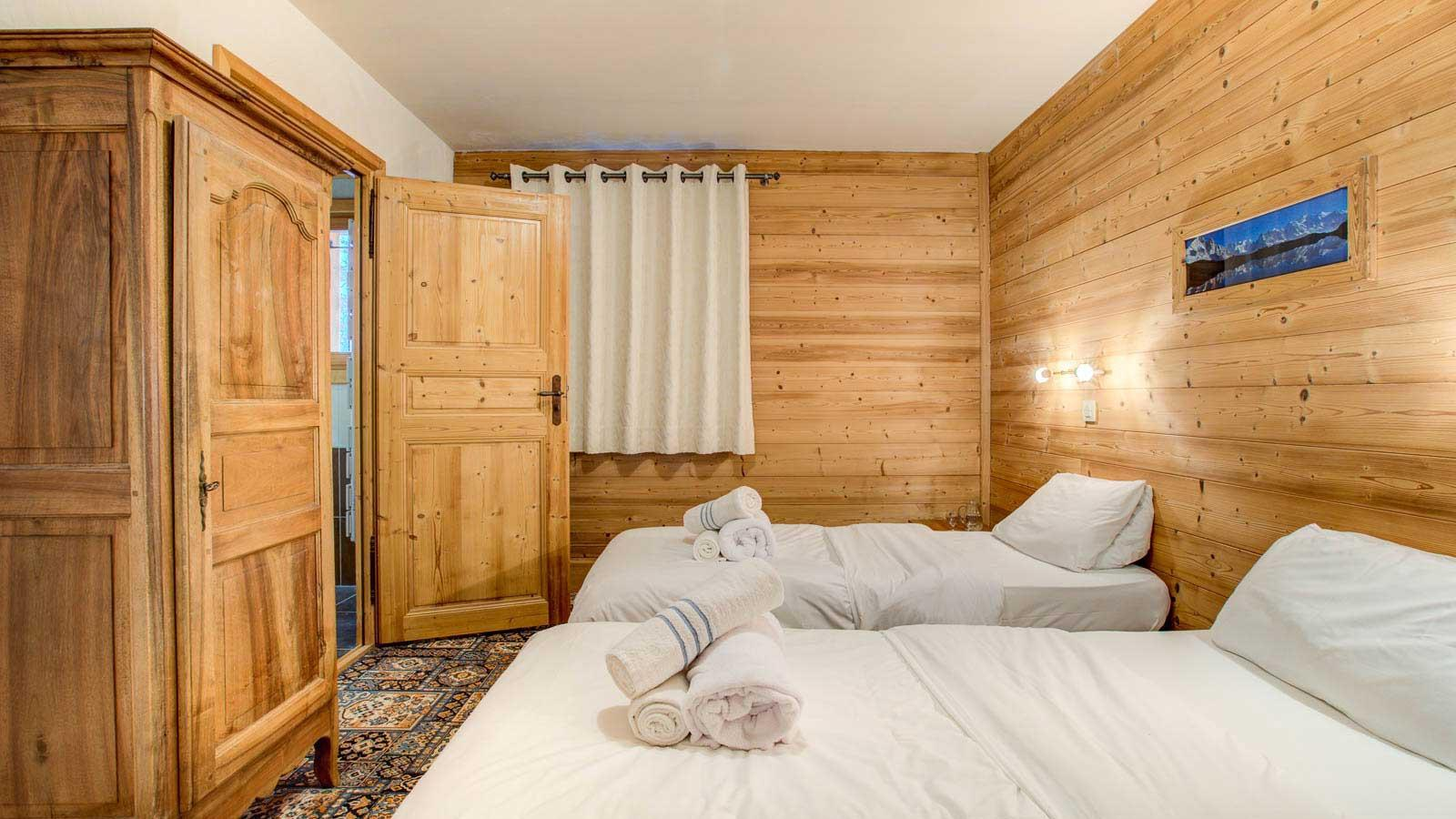 Chalet Laetitia twin bedroom