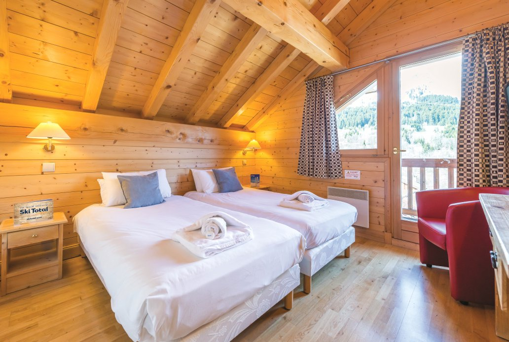 Chalet L'Ancolie Twin Bedroom