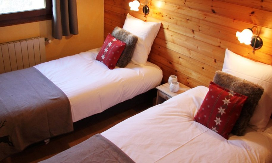 Comfortable Twin Bedroom Chalet Lapin