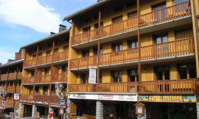 The residence exterior of apartment Le Centre in Meribel