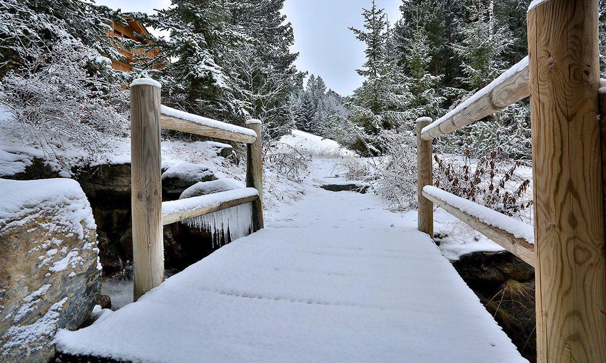 Snowy Path to the Piste