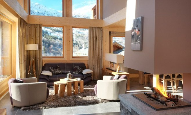 Chalet Bellacima Living Room with view