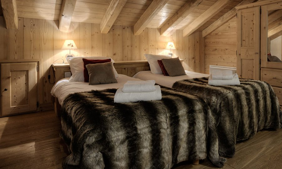 Twin Room Chalet Blanche