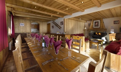 Chalet Cote Darlin Dining and Living Area