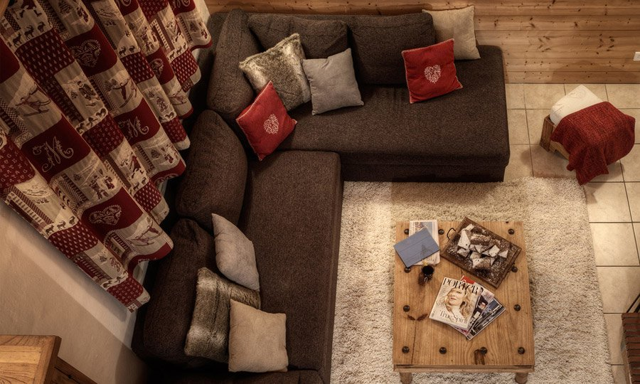 Cosy living room with fire
