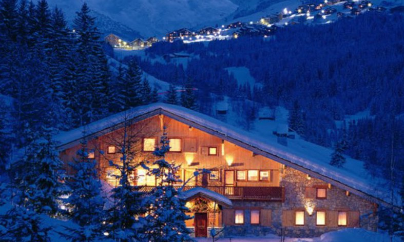 Chalet Les Brames at Night