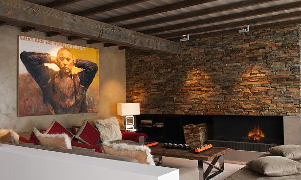 Luxurious Sofas and Open Fire