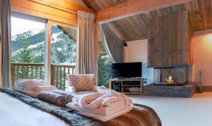 Chalet Bedroom with Fire