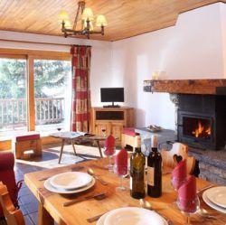Chalet Andre Meribel living area