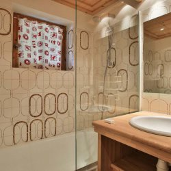 Chalet Andre Bathroom with bath and shower