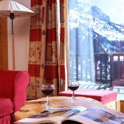 Chalet Andre Balcony with Wine