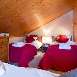 Chalet Dou du Pont triple bedroom