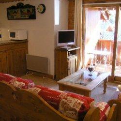 Living room in Apartment Fermes de Meribel 413 Meribel Village
