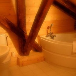 Chalet Du Fruit Bathroom with Corner Bath
