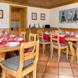 Chalet Noemie Dining Room in Meribel