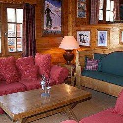 Chalet La Tarine Living Room