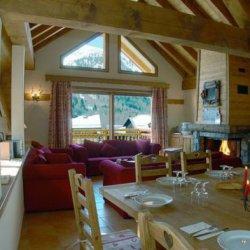 Chalet La Vieille Grange Lounge Dining Room