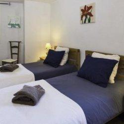 Chalet la Coblette Twin Bedroom