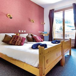 Chalet Hotel Grangettes Bedroom