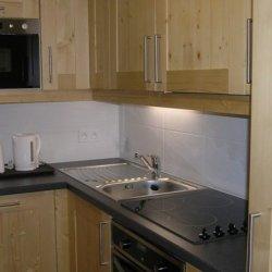 The kitchen area in apartment Aubepine Meribel