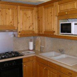 Equipped kitchen area in Chalet Morel in Meribel