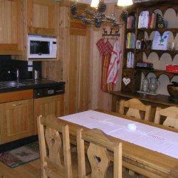 Dining area of apartment Cristal in Meribel