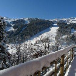 Beautiful views from chalet La Fugue in Meribel