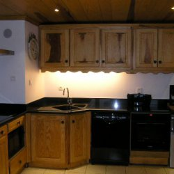 The well equipped modern kitchen in apartment Le Centre