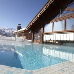 The outdoor pool at Club Med Meribel Le Chalet