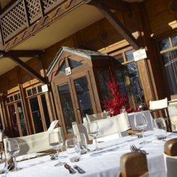 The terrace at Club Med Meribel Le Chalet